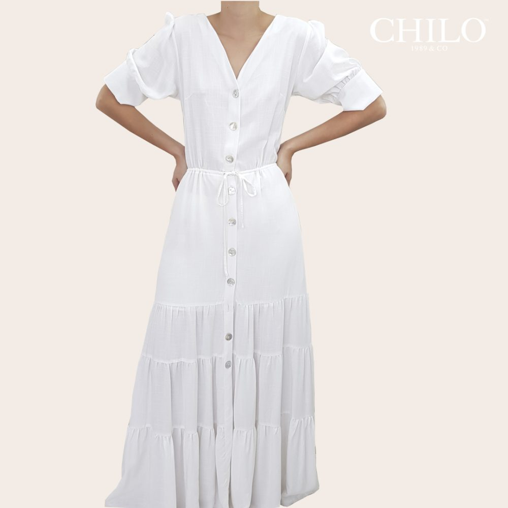Vestido Veraniego Largo Blanco