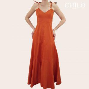 Vestidos formales color naranja