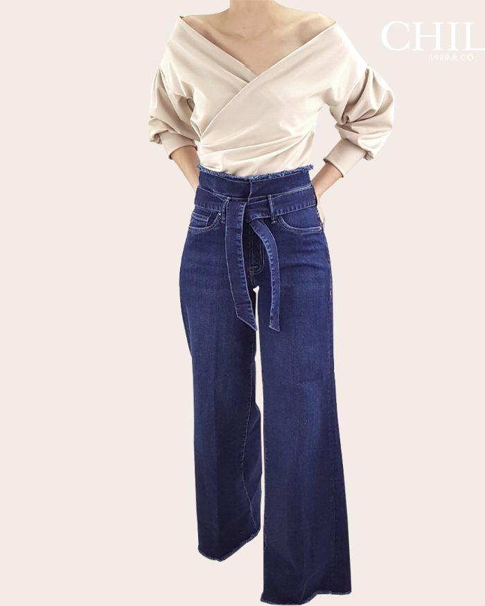 Pantalón Jean talle alto bota ancha
