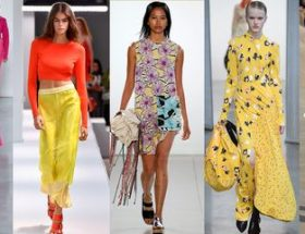 Paris fashion week 2019 red and yellow