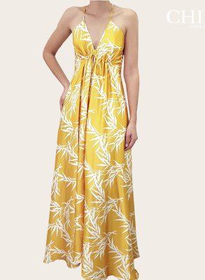 Vestido de fiesta amarillo largo