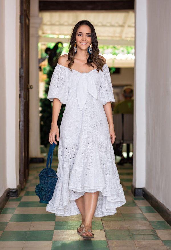 Vestido en Ojalillo para Mujer