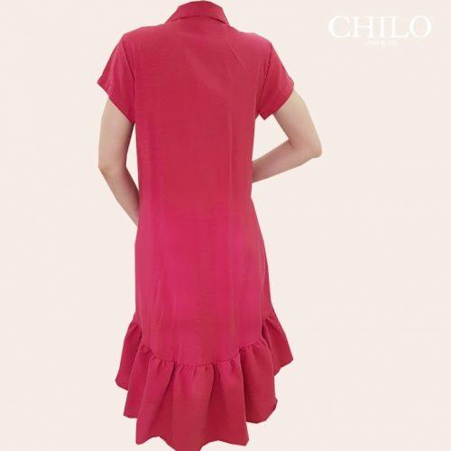Vestido Talego de Espalda rojo
